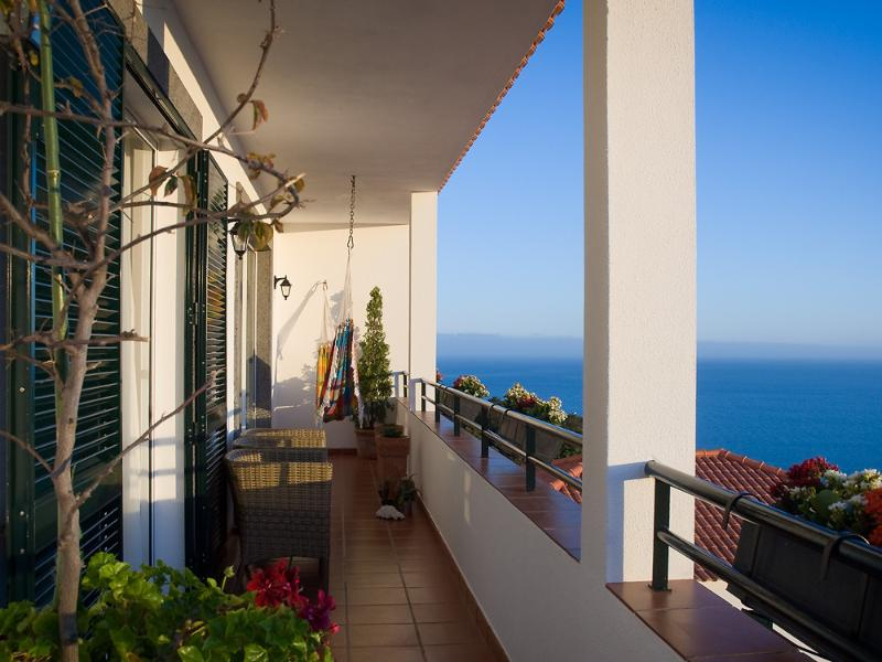 Large balcony with panoramic views