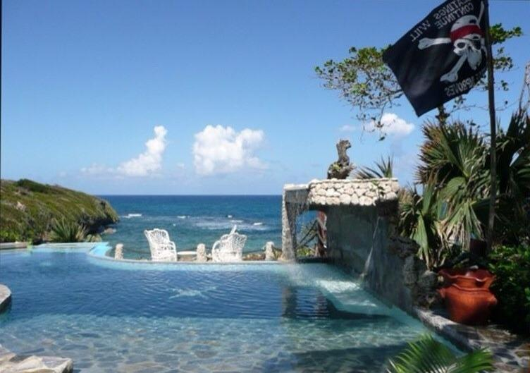 Our Pool and the Atlantic Ocean, Sit and watch the Humpback Whales pass by