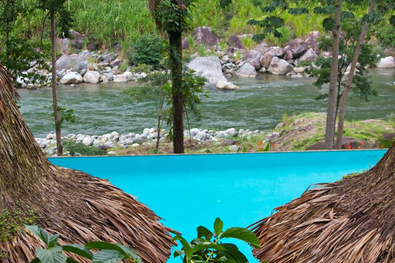 View from Ceiba Tree of the pool and river