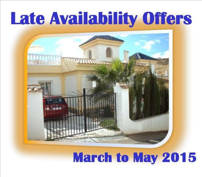 *** OFFERS ***  Book 7 Nights in March, April or May 2015 & Receive 1 Free Saving up to £50.