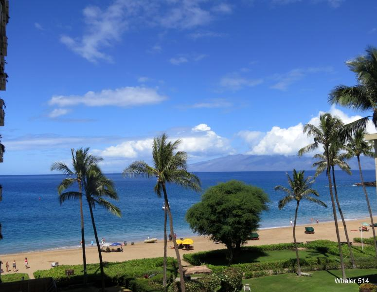 Your ocean view from your private lanai of Kaanapali and island of Molokai