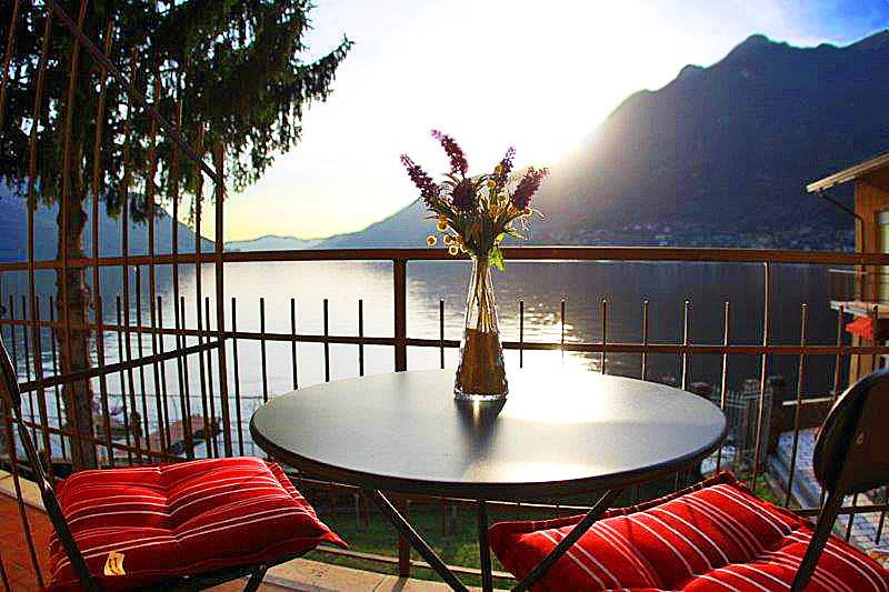 Simply stunning 180 degree Views of Lake Como from private balcony
