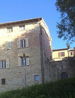 Casa delle Mure from the adjacent carpark