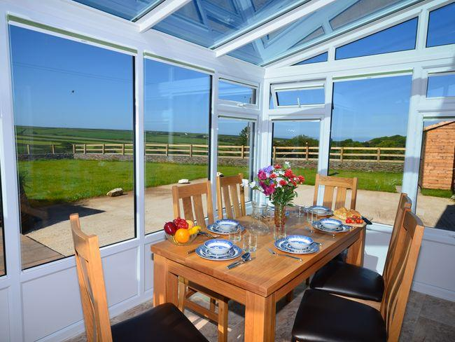 Enjoy the countryside views from the conservatory