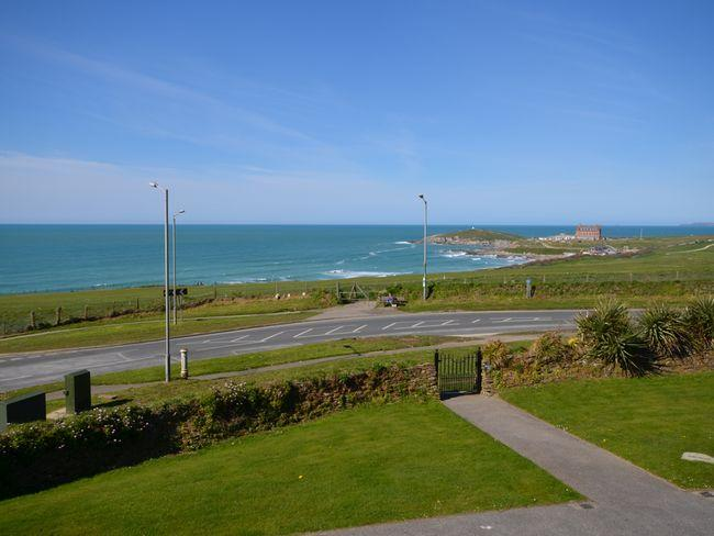 Stunning sea views from the lounge over Fistral beach
