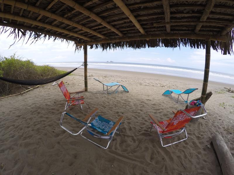 From the palapa at the beach