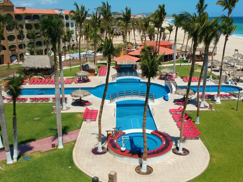 Perfect view of the beach and Coral Baja pool from your private balcony.