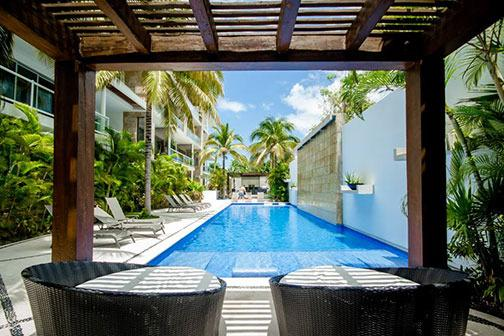 Gorgeous pool area with ample seating