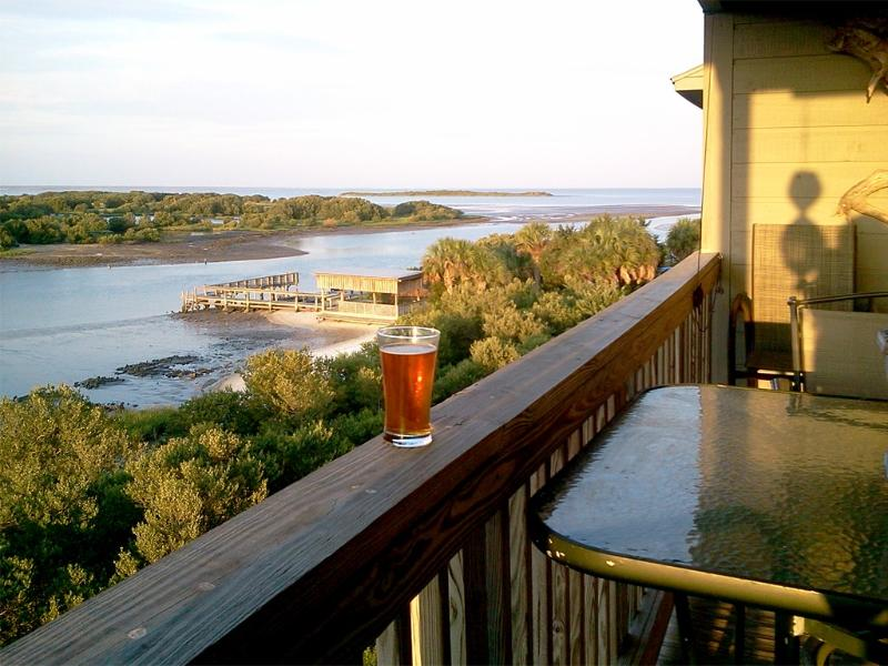 Sundown from Tranquility's balcony - Are you ready to relax in Cedar Key, FL?