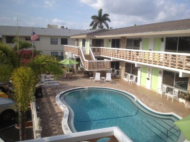 Ocean Villas' heated pool is right outside your front door!