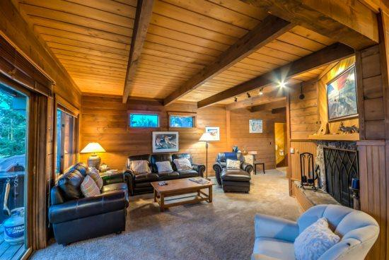 Living Room, With Wood Burning Fireplace, Flat Screen TV