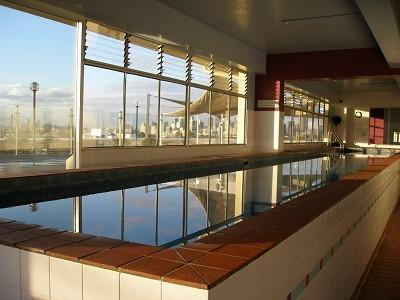 Resort-style rooftop facilities: indoor heated lap-pool