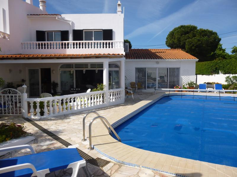 Great villa for family holidays with large pool, gardens and gated covered patio