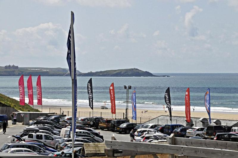 View over Watergate Bay from Waves apartments