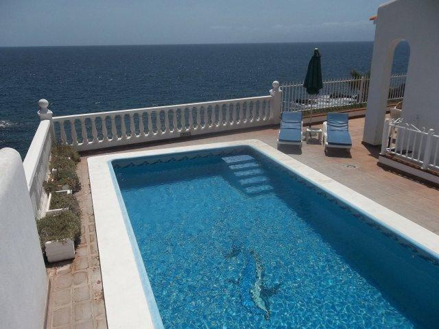 Pool Terrace with sea views