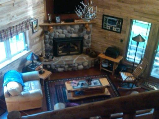 Open concept great room with fireplace, luxury living
