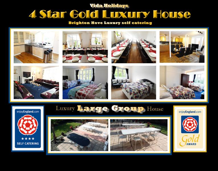 4 Star Gold Luxury Group Large House for Short Breaks and Holidays Brighton Hove East Sussex UK
