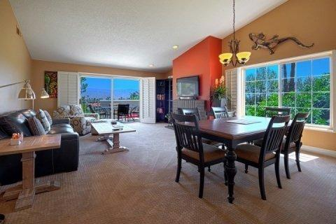 High ceilings and open living plan for great entertaining