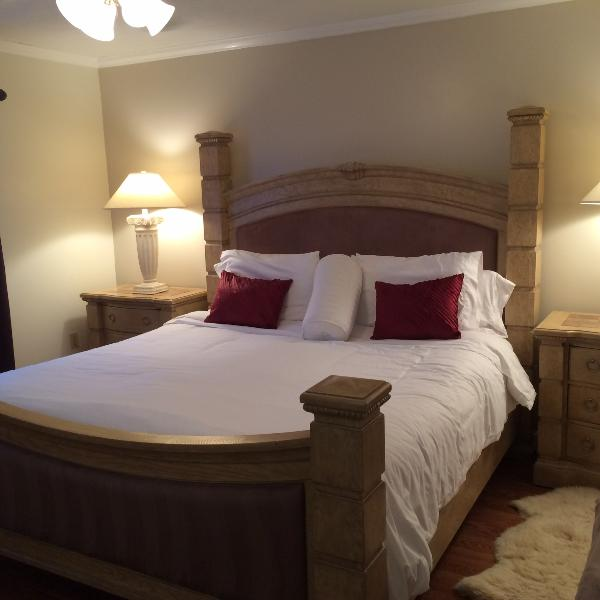 Master Bedroom #1 with King Bed and fine linens