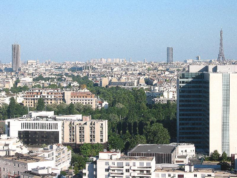 View on to Paris as seen from the apartment