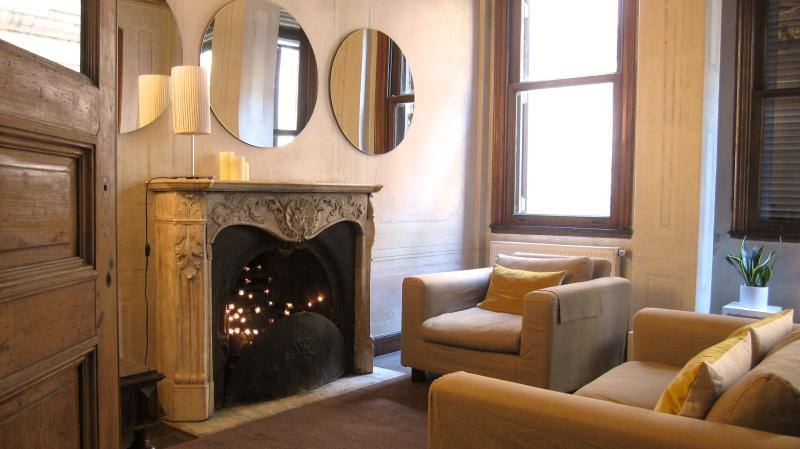 eclectic mix of modern and antique furniture