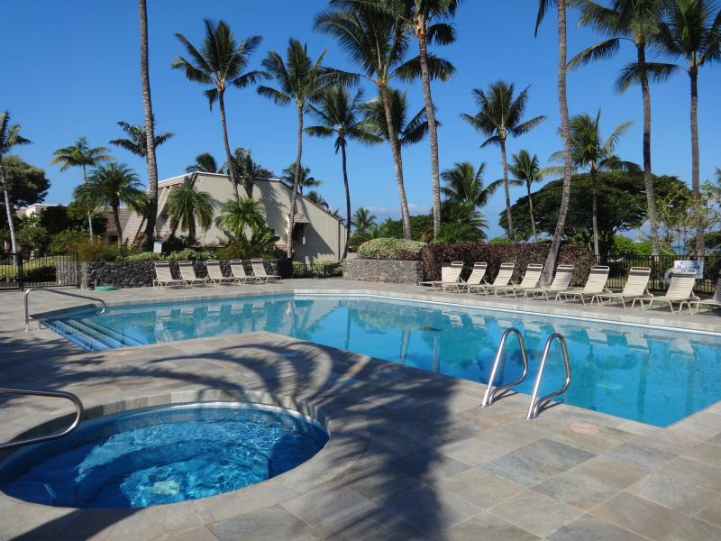 Newly remodeled main pool is just steps from the condo for your relaxing dip or soaking up some sun
