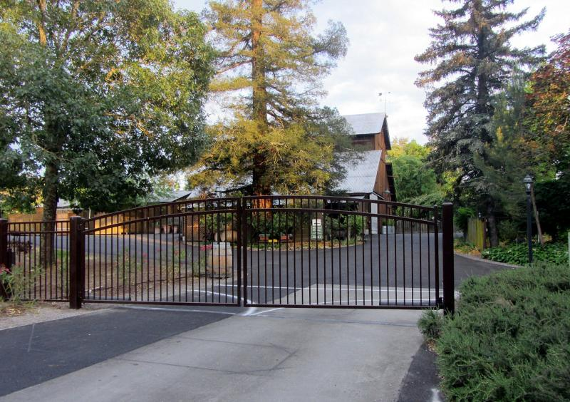 Entrance to Healdsburg Country Gardens where Wine Country Home & Cottage are located. A private gem!
