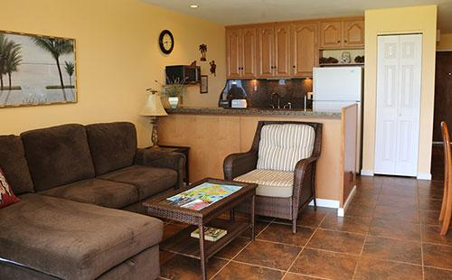 Living area from lanai