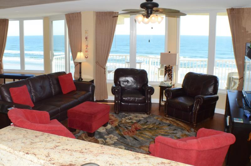 Beautiful ocean views from your comfortable living area