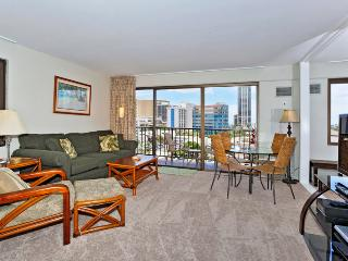 Four Paddle #702 - 1 bedroom w/AC, tree-top ocean views, W/D, free parking, WiFi, walk to beach - Waikiki vacation rentals