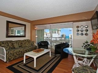Waikiki Park Heights #1206 - One-bedroom with ocean view and central AC; 5 min. walk to beach. Sleeps 4. - Waikiki vacation rentals