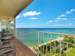 Waikiki Shore #1412 - Beachfront 1-bedroom, full kitchen, washer/dryer, A/C, WiFi, sleeps 4. - Waikiki vacation rentals
