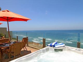 Single family 8br, 6.5ba home on the ocean, private spa, fireplace, patio, Encinitas