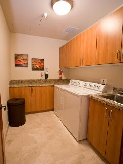 E202 Ocean Pearl Laundry Center - Well Equipped & Fully Stocked with Abundant Laundry Supplies and Cleaning Equipment