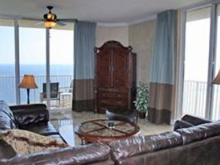 Large Vacation Home with Gulfside Balcony at Tidewater Beach Condos, Panama City Beach