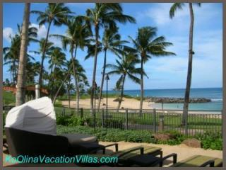 Welcome to the Beach Villas at Ko Olina.  Private seating overlooking the Lagoon