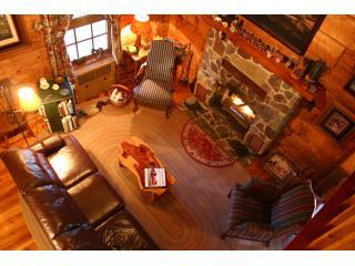 Great room of Virginia Log Cabin