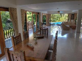 Open Plan Kitchen & Living Area, opens to Deck and Pool