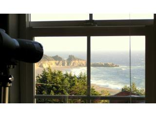 View from SeaWatch windows of Gualala Point & beach.