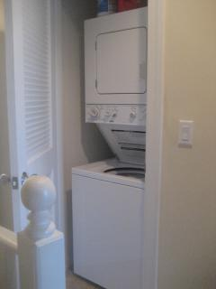 We have a washer/dryer right inside our unit for your convenience