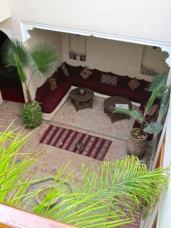 View of courtyard from balcony