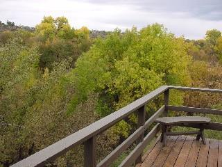from corner of deck