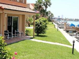 La Solana #111 Bay front condo opens up to the docks and your reserved boat slip., Port Isabel