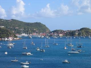 View over Gustavia Harbor