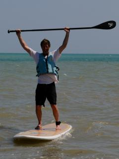 come enjoy one of our 6 paddleboards that come with the house!