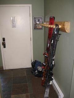 ski rack and heater for boots