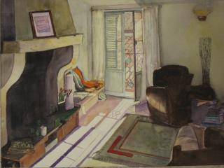 One of our rentors captured the feel of the place in this watercolour ...