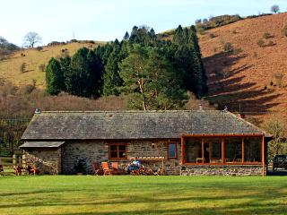 CRYCH DU, character holiday cottage, with a garden in Llanwrthwl, Ref 2940