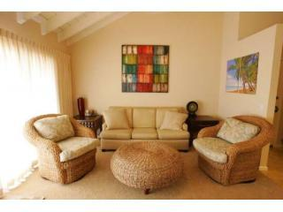 Living room with designer furnishings - Oceanview Maui Kamaole with 5-Star Amazing Remodel - Kihei - rentals
