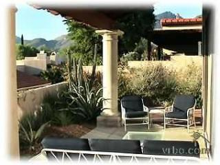 Back patio with view of catalina mountains